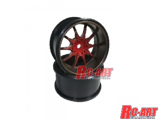[XSAR06]特価品 WHEEL XSA OFFSET 6 RED (2pcs)